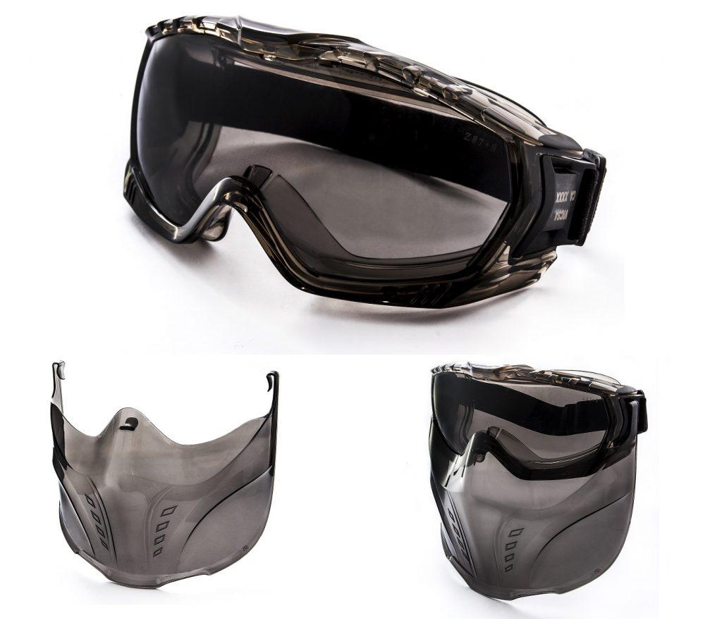 V-MASK Óculos de segurança com acessório facial - VIC56510, VIC56520 ... 719cdeea16