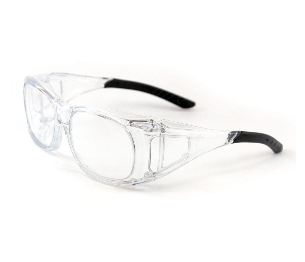 Óculos de segurança com lente de proteção em policarbonato com tratamento  antirrisco e antiembaçante. a1b05b3565